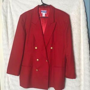 Women's Pendleton Red Wool Blazer